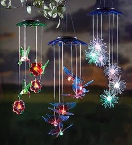 Color-Changing Lighted Solar Mobiles, Set of 2