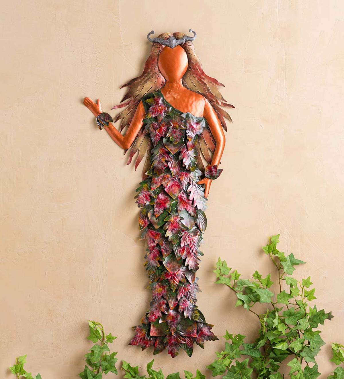 Metal Lady of the Fall Forest Wall Art
