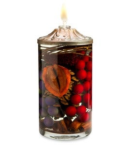 Cylinder Berry Lifetime Oil Candle
