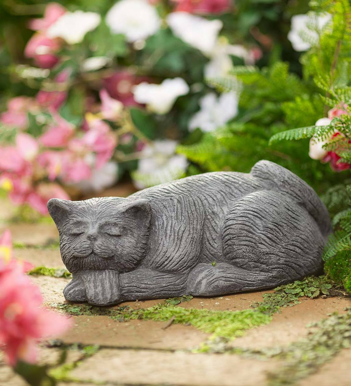 Sleeping Cat Textured Sculpture