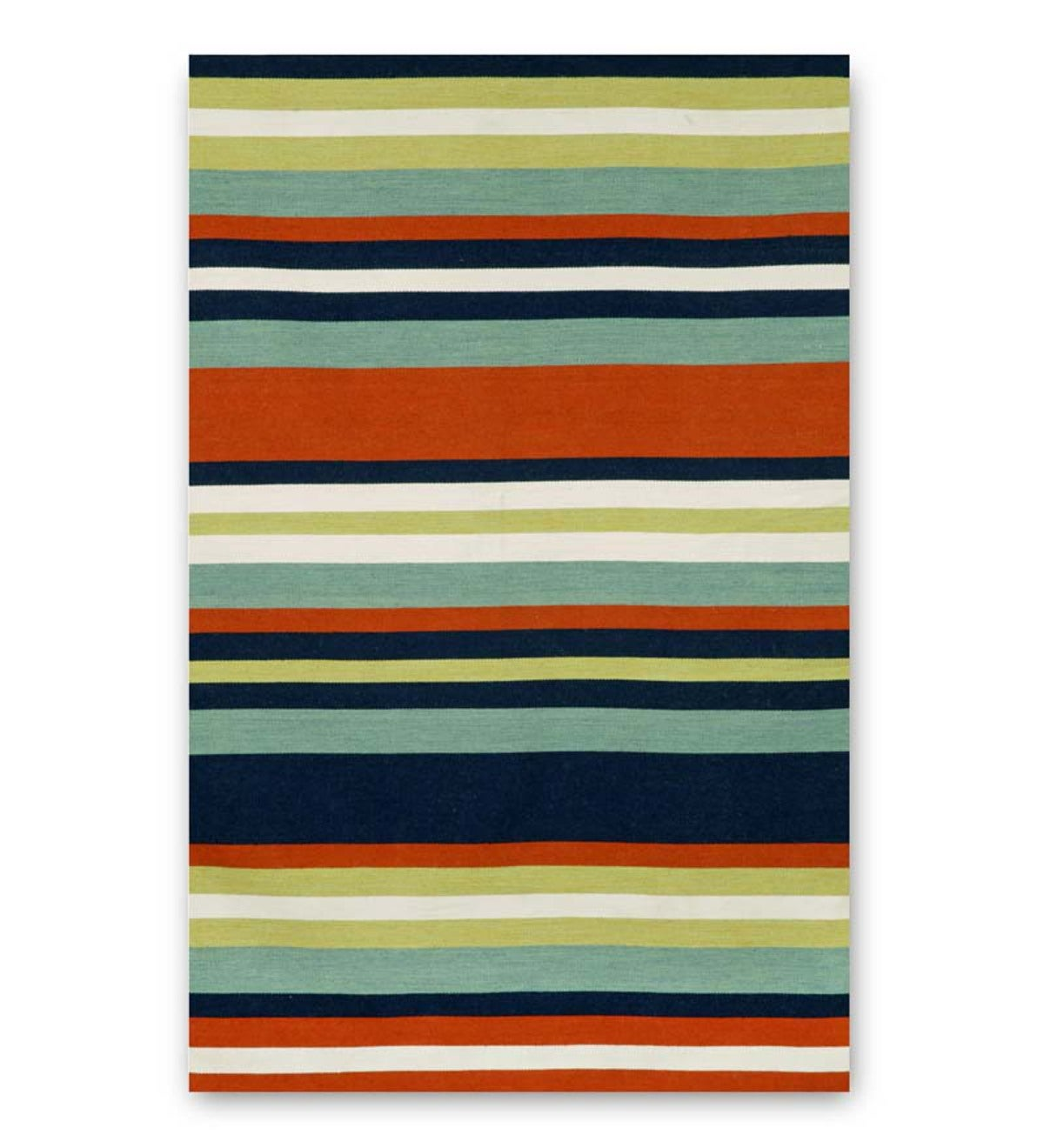 Sorrento Navy Tribeca Striped Indoor/Outdoor Rug - Navy