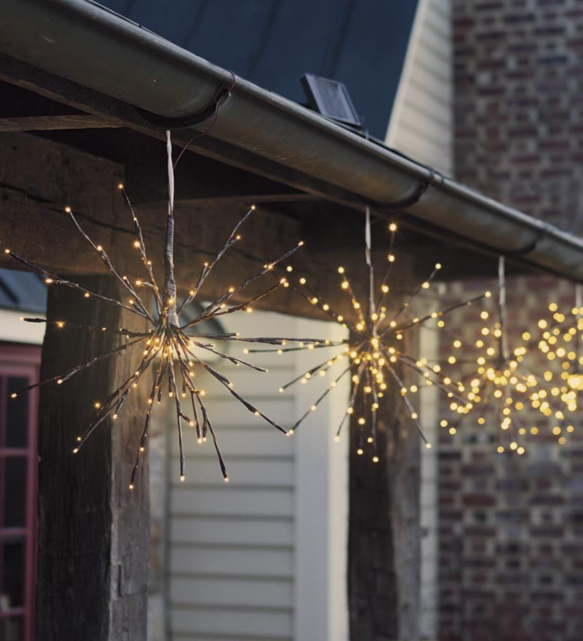 Hanging Solar Twig Lights, Set Of 2