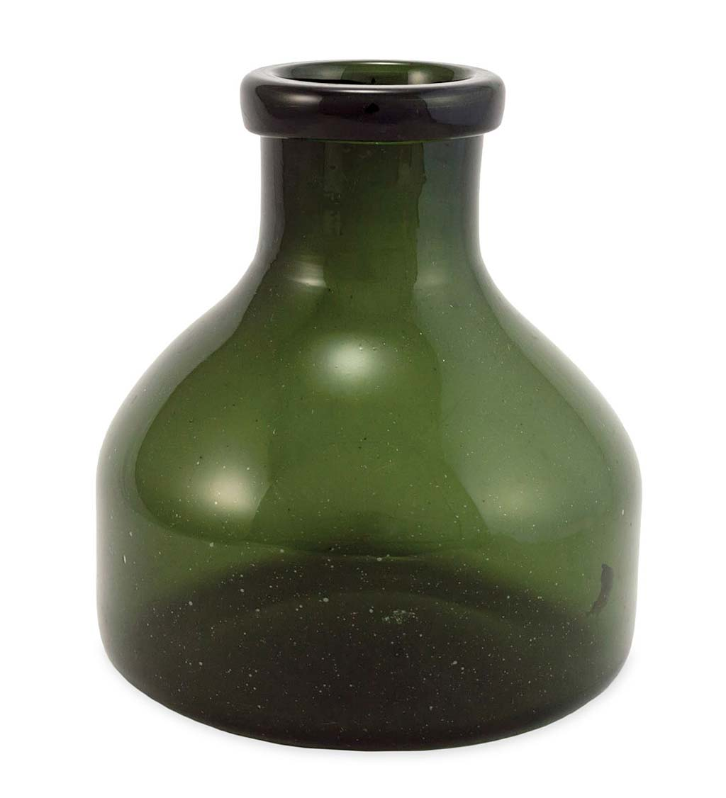 Large Recycled Green Glass Apothecary Vase