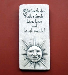 Stone Live, Love, Laugh Plaque by Carruth Studio