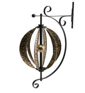 Hammered-Metal Wall Mount Wind Spinner
