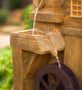 Solar Watermill Fountain with Spinner