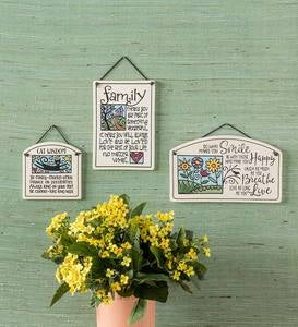 Family Ceramic Garden Sign