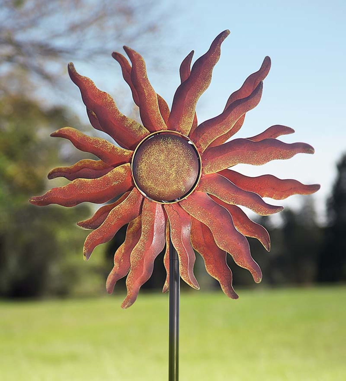 Red Sun Wind Spinner