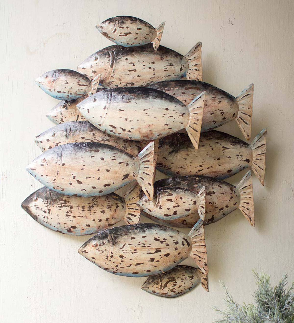 School of Tuna Metal Wall Art