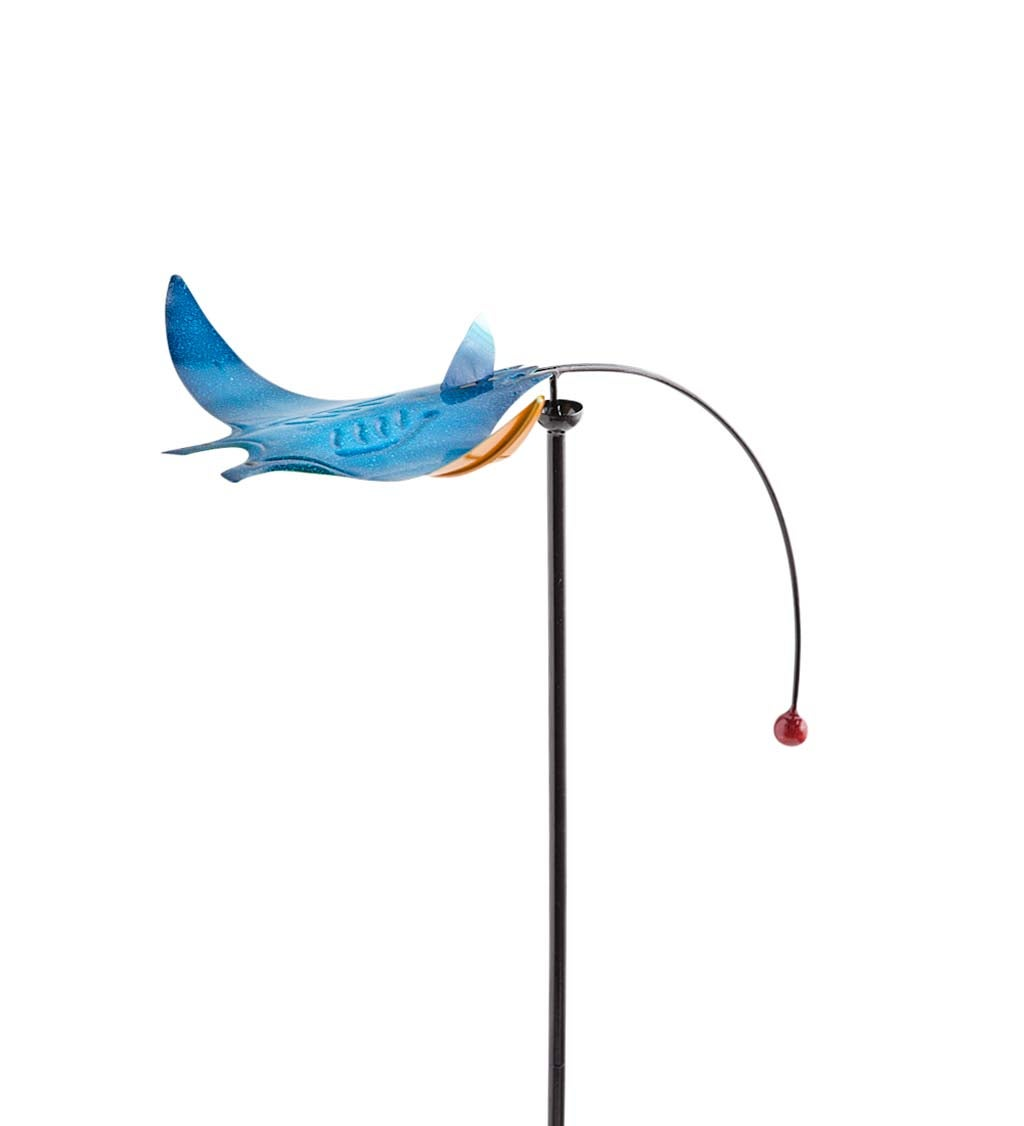 Metal Sea Life Balancer Garden Stake