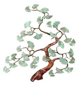 Ginkgo Tree Wall Sculpture by Bovano of Cheshire