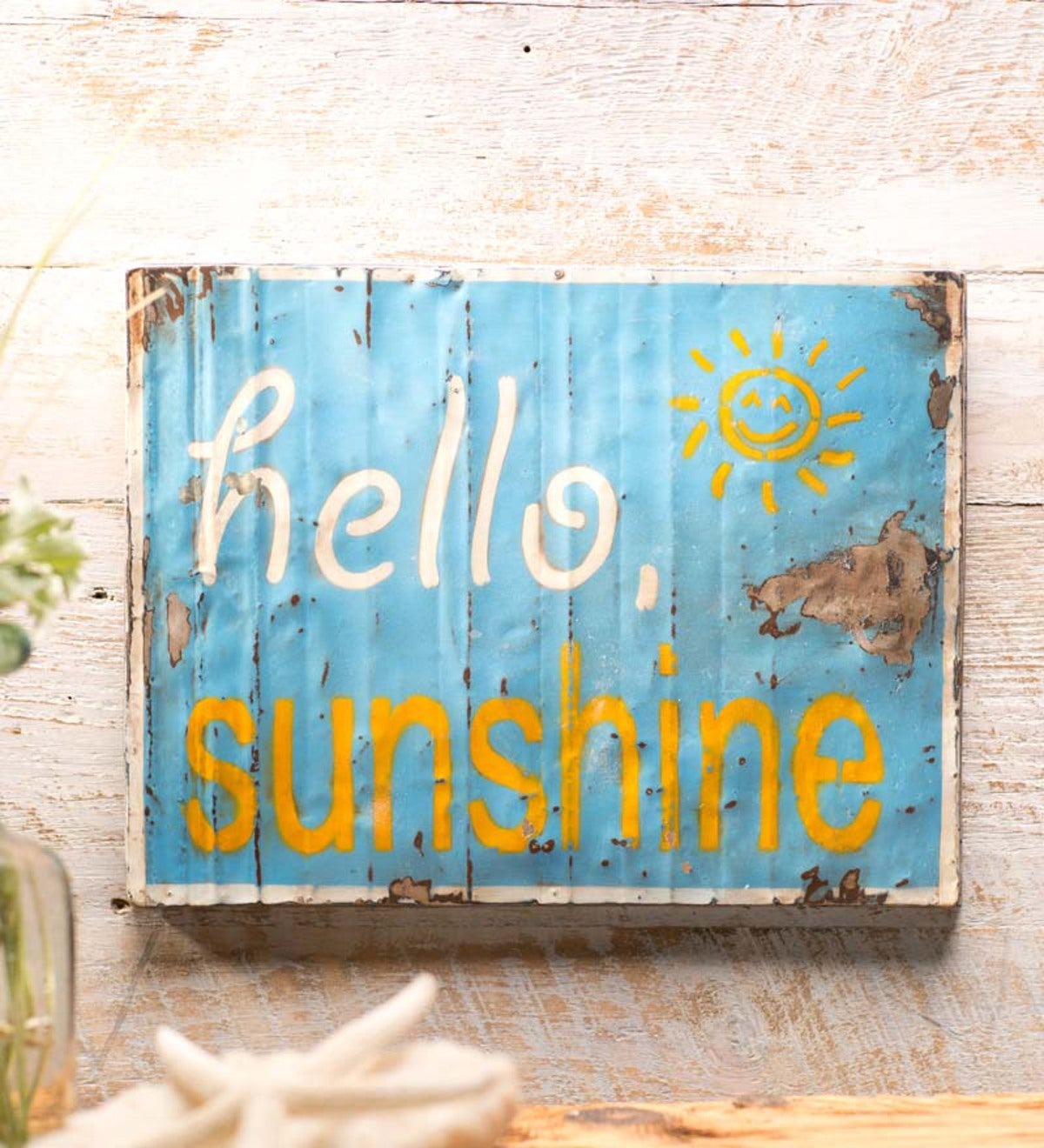 Metal Hello Sunshine Wall Art