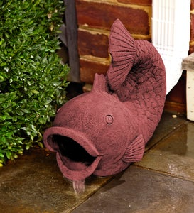 Terra Cotta Colored Fish Decorative Downspout