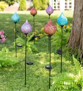 Lighted Solar Water Drop Stake - Purple