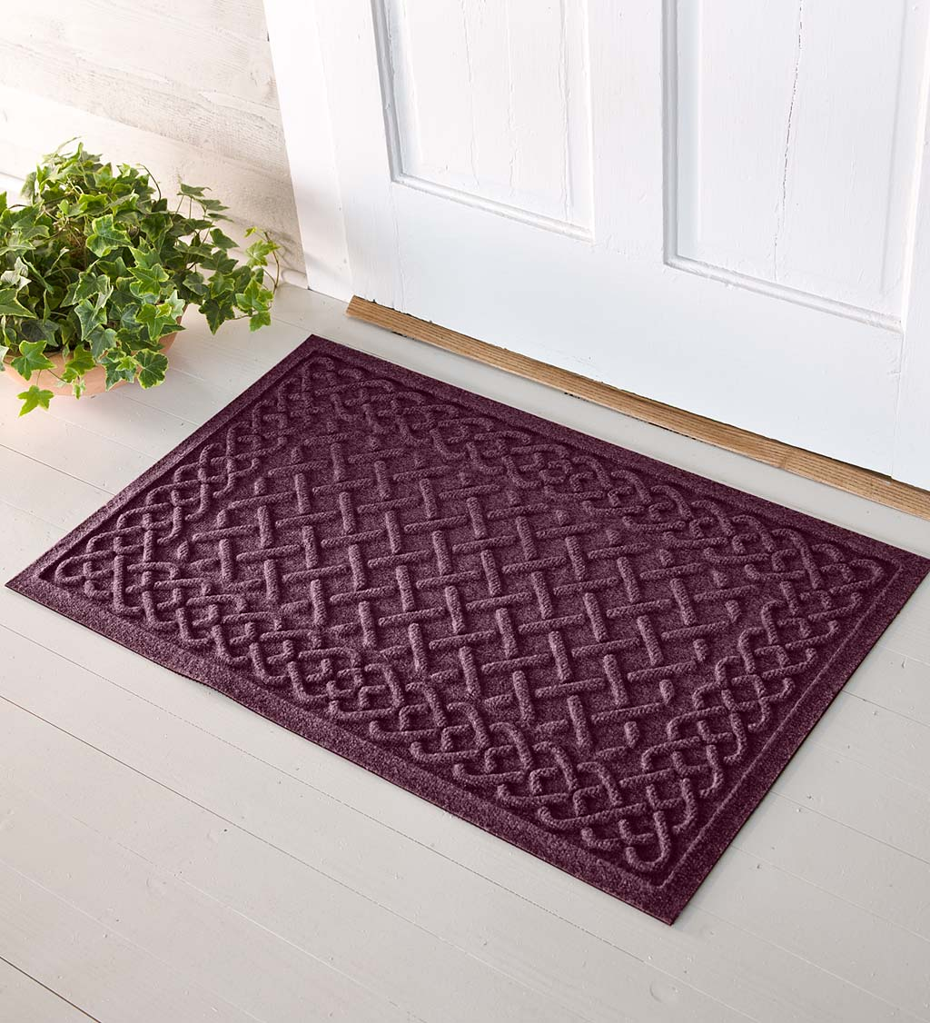 Waterhog Cable Weave Doormat, 3' x 7' - Bordeaux