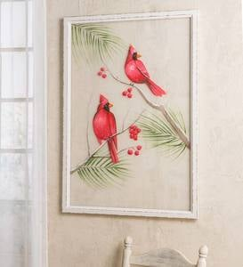 Hand-Painted Cardinal Wall Art