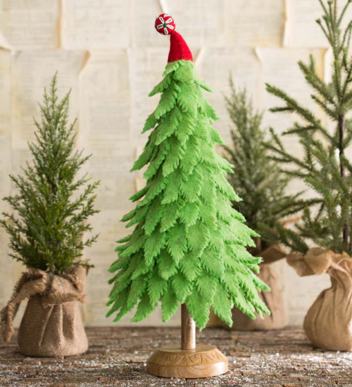 Handcrafted Felt Christmas Tree - Green
