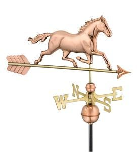 Copper and Brass Horse Weathervane