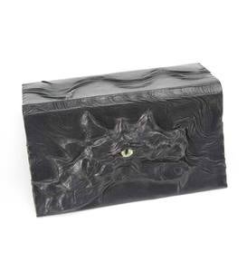 Black Leather Dragon Checkbook Holder