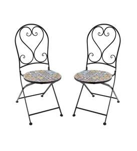 Mosaic Bistro Two Chairs Set