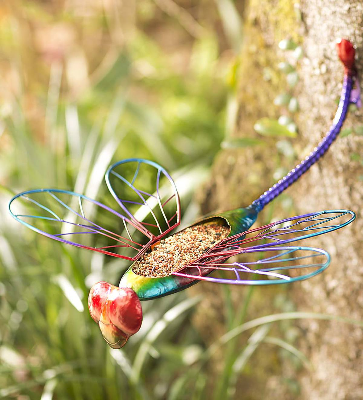 Metal Dragonfly Bird Feeder | Wind and Weather