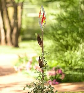 Stained Glass and Metal Flower Garden Stake