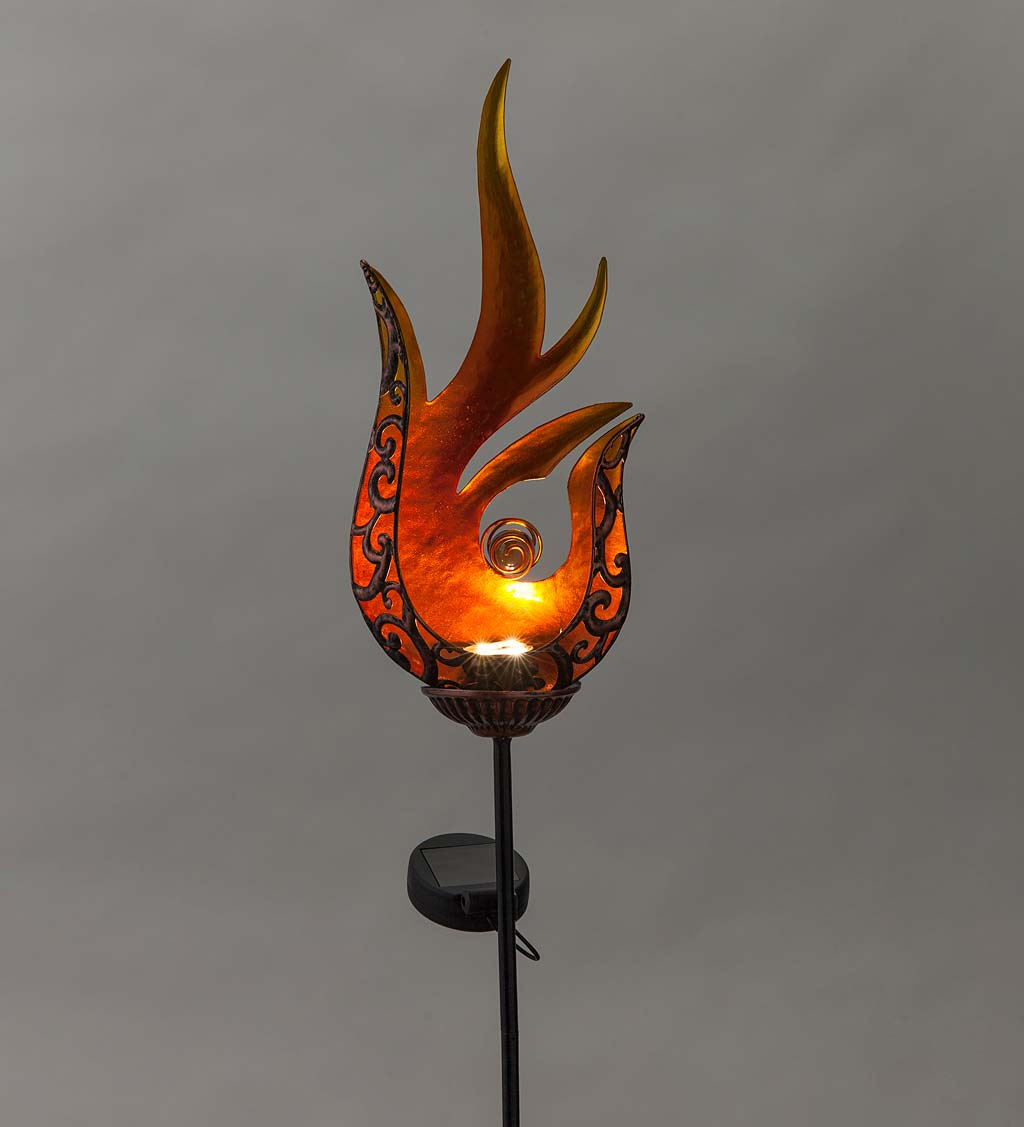 Flame-Shaped Lighted Solar Garden Stake