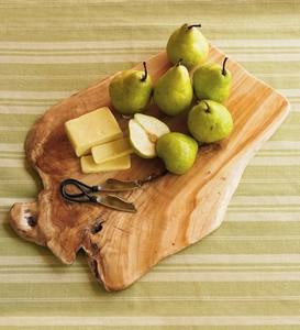 Root-Wood Cutting Board with Knives