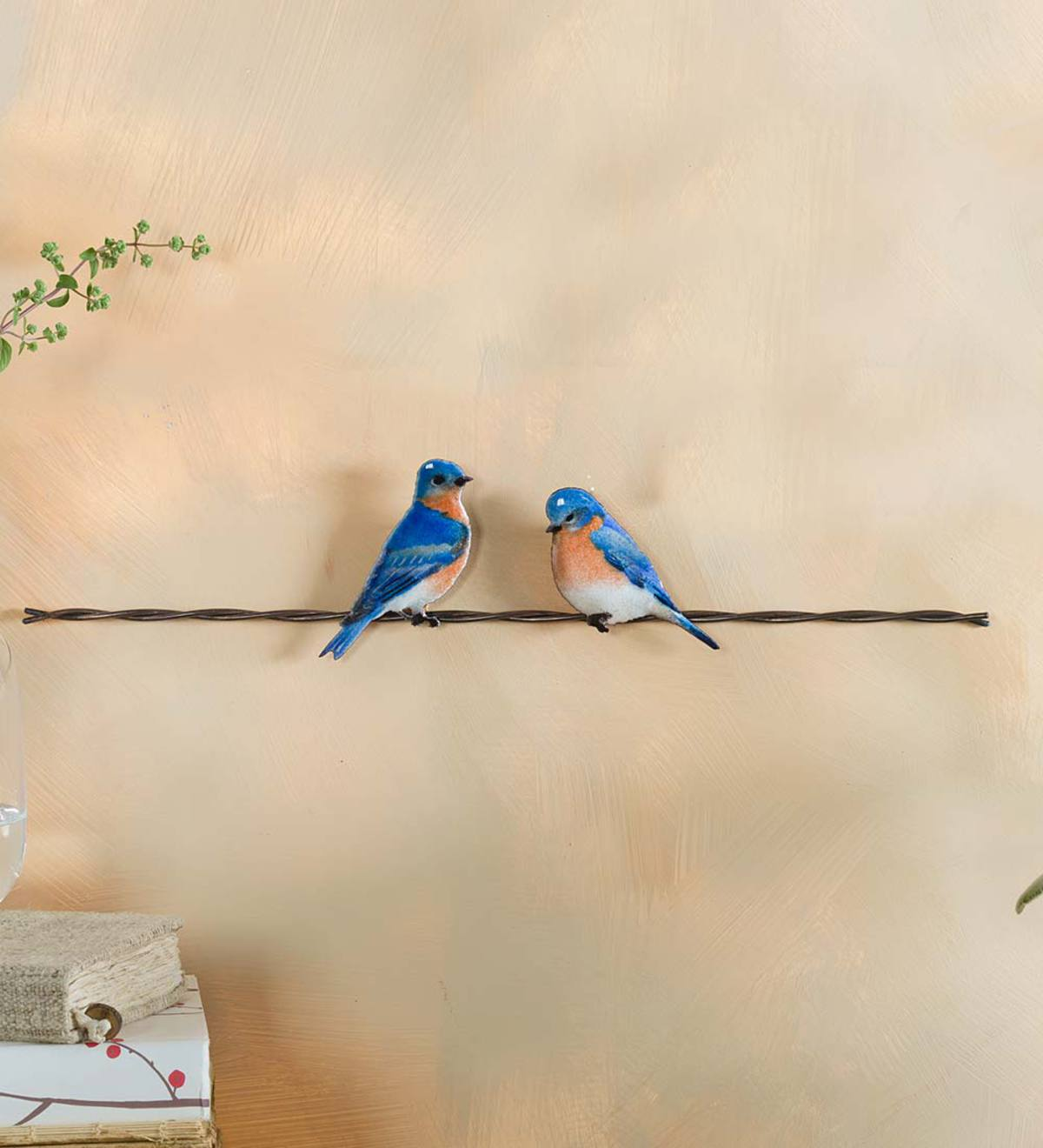 Wire And Glass Wall Art Home Decor ~ Bovano enameled birds on wire wall art home decor
