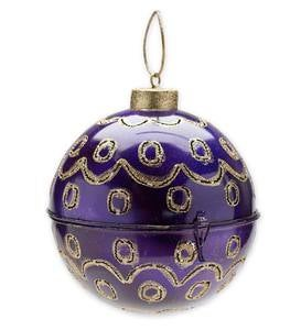 Large Ball Ornament with Lights - Red