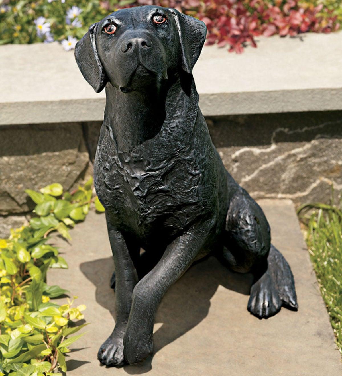 ... Garden Sculptures; Black Lab. Black Lab