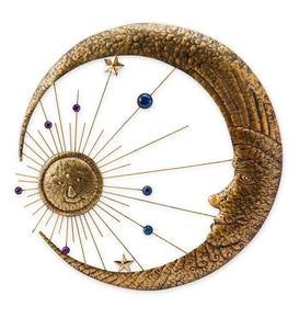 Radiant Sun and Moon Metal Wall Art