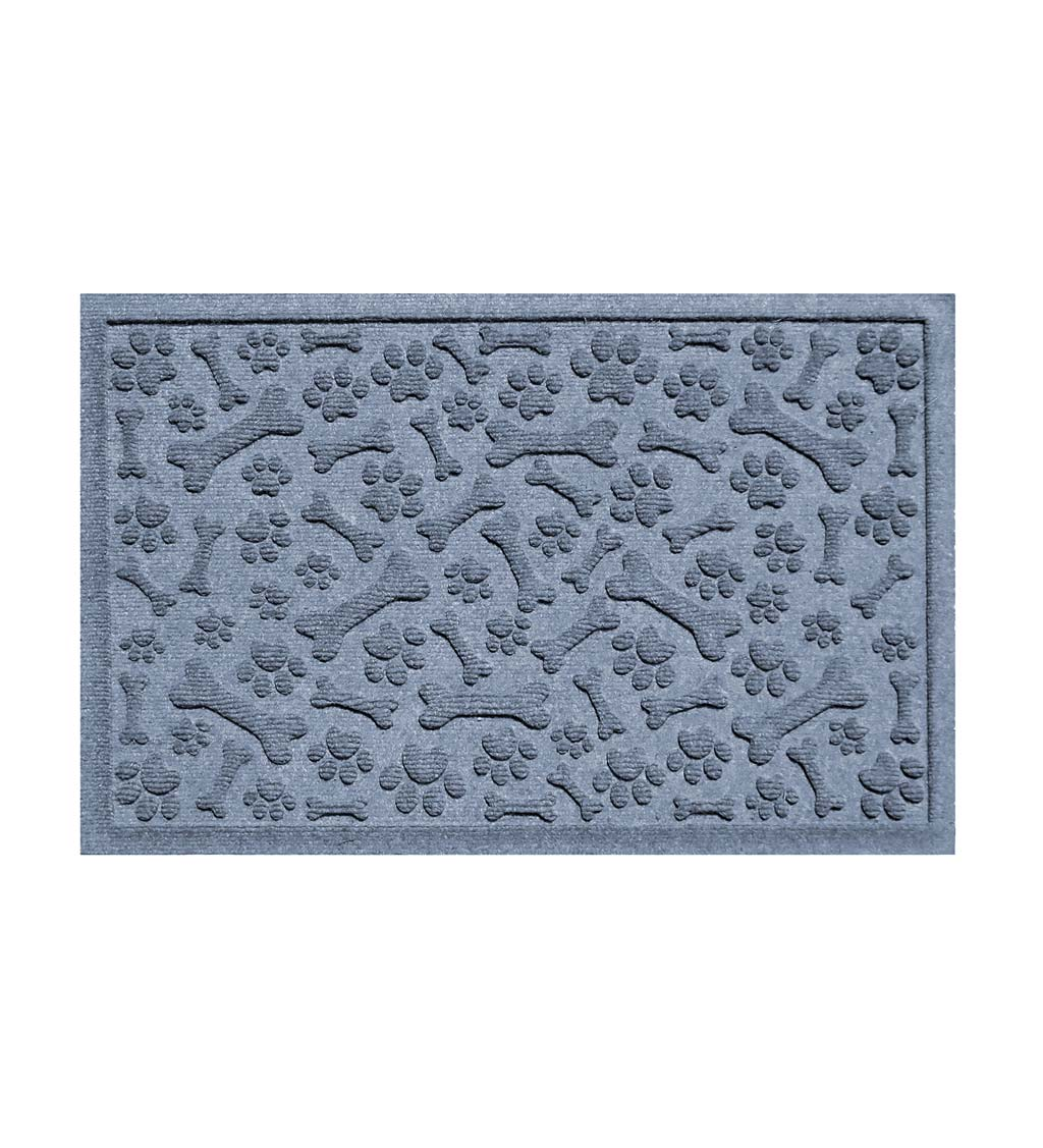 Waterhog Paws and Bones Doormat, 2' x 3' - Bluestone
