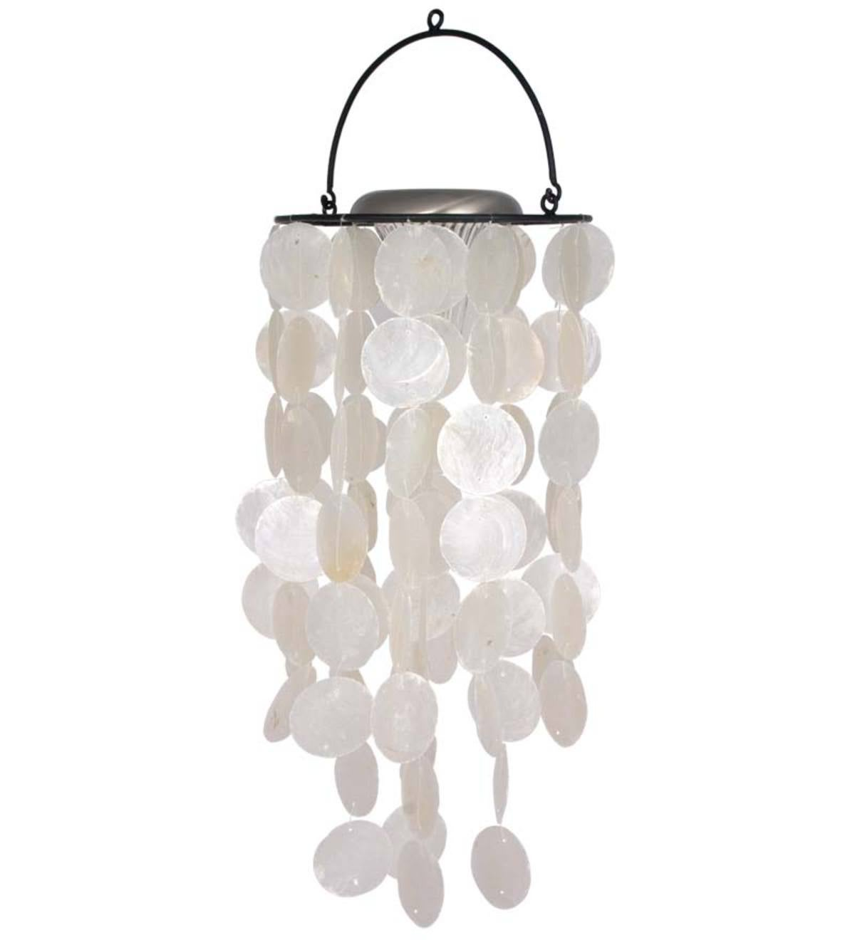 Light-Up Capiz Solar Wind Chime