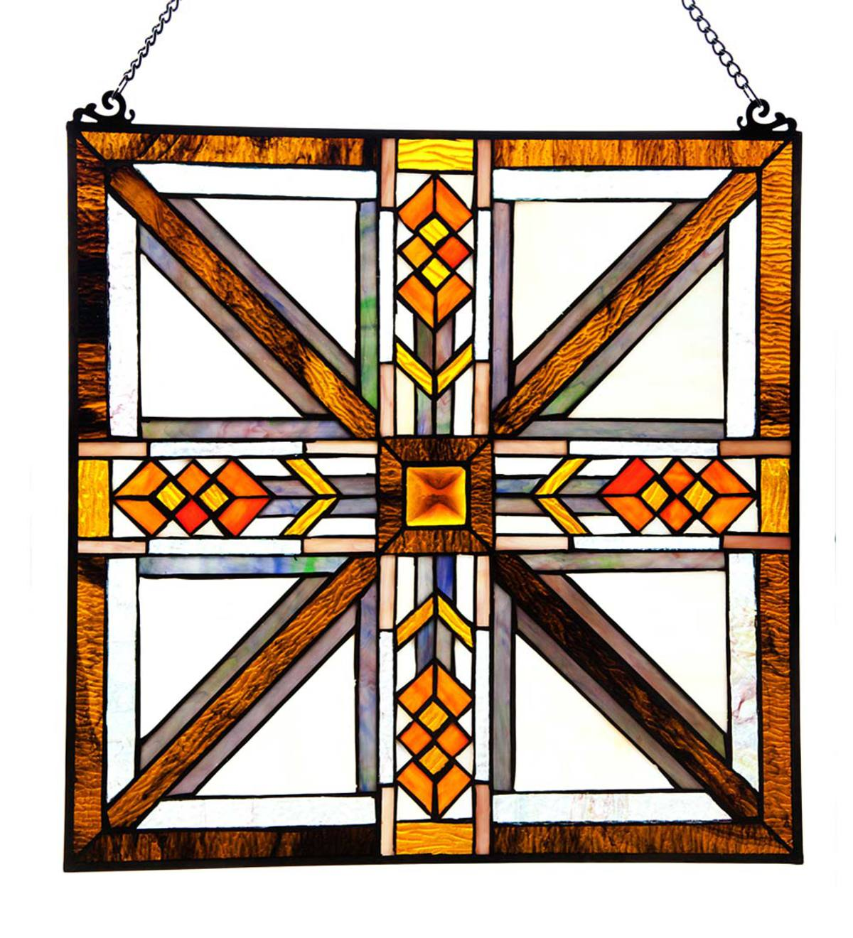 Southwest Stained Glass Window Panel