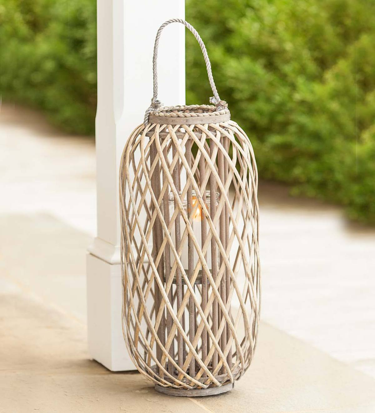 Small Willow and Glass Lantern