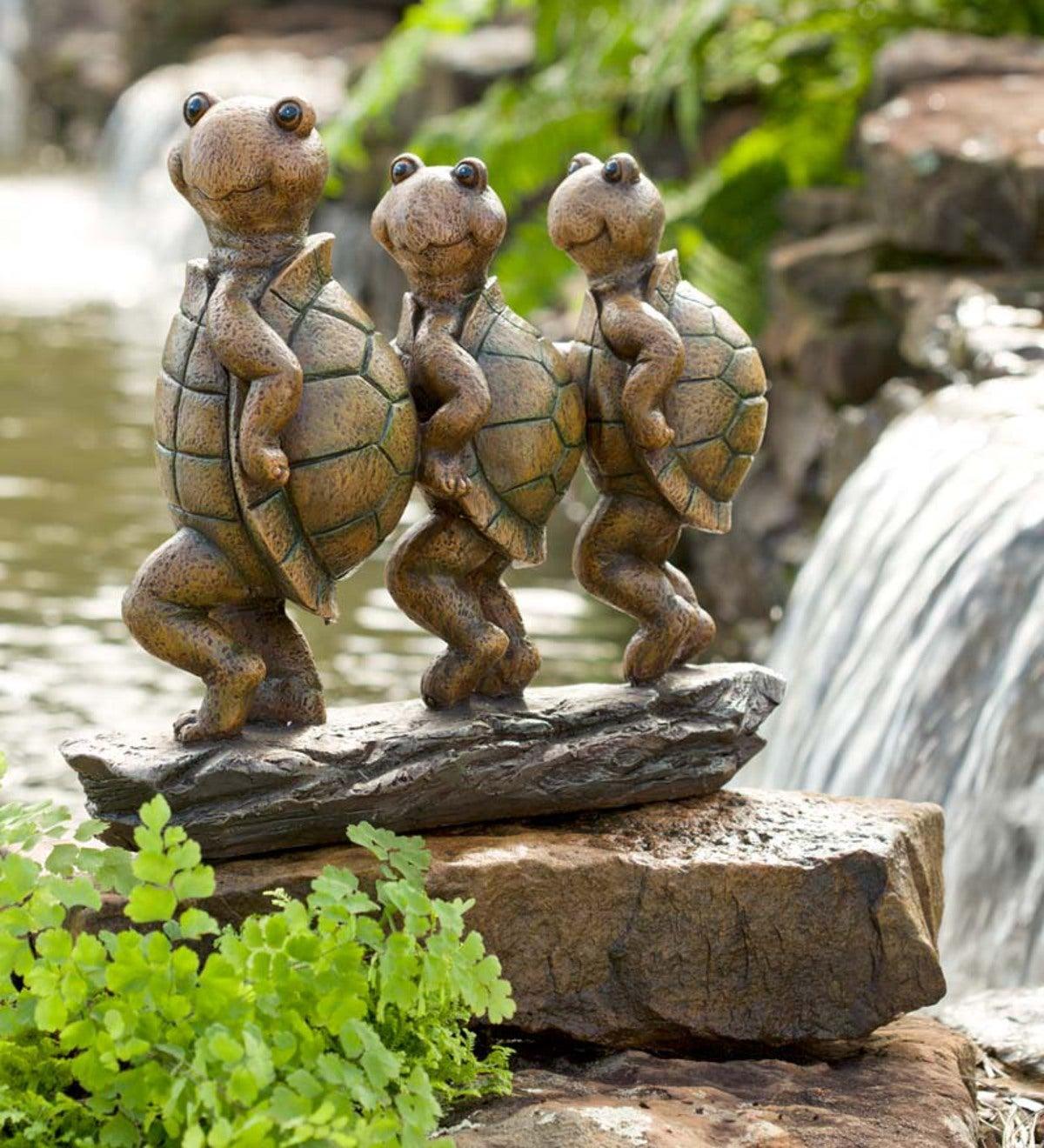 Can Can Turtles Garden Sculpture