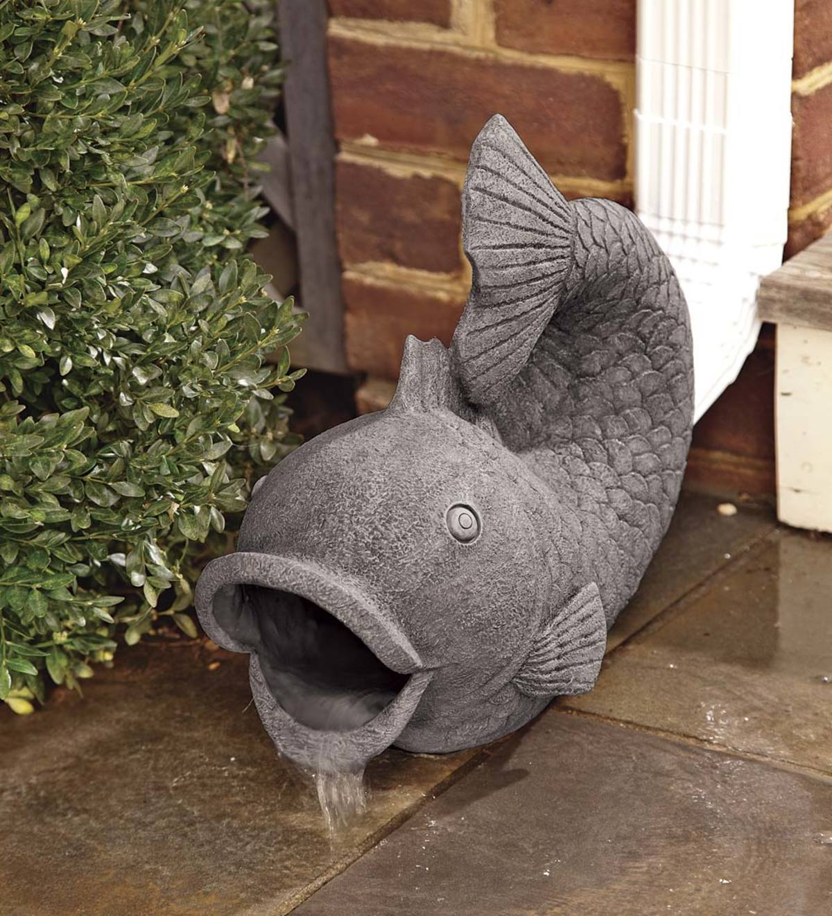 Resin Friendly Fish Decorative Downspout Cover