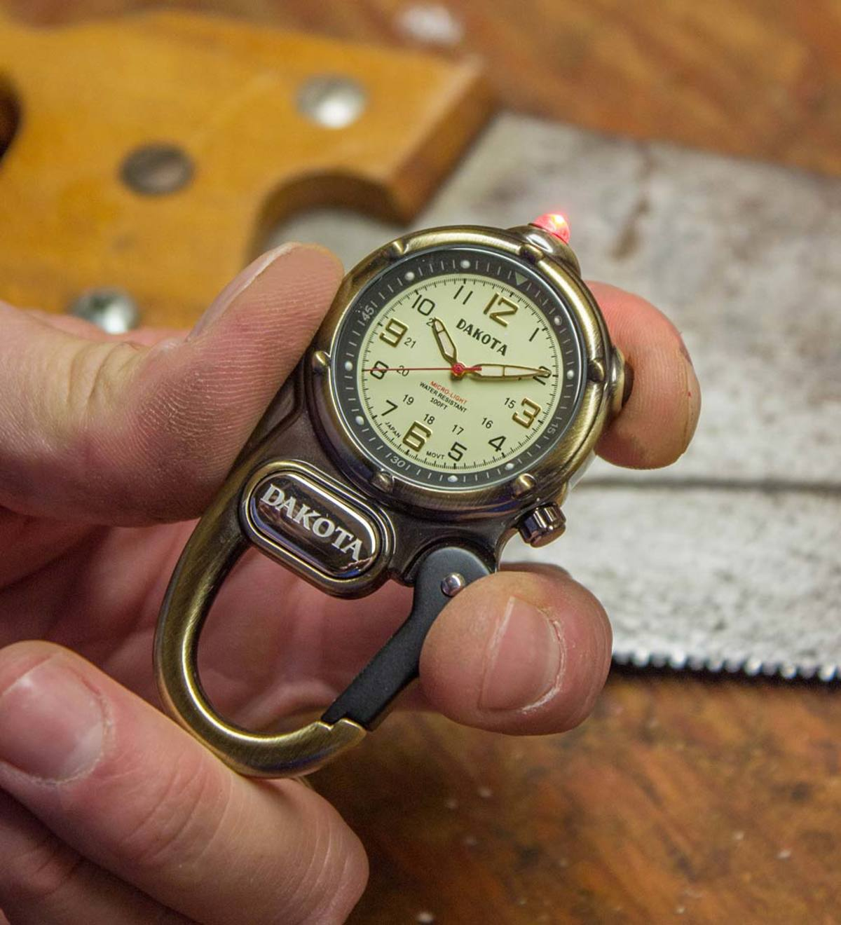 Carabiner Watch with Microlight