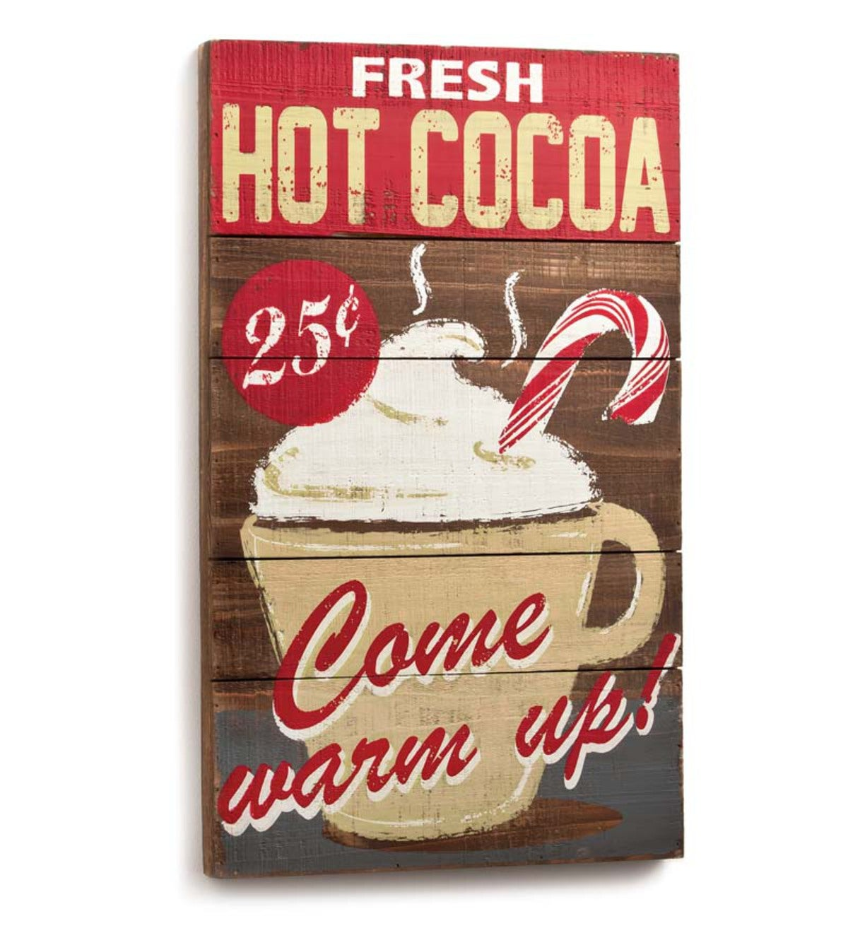 Wooden Hot Cocoa Wall Plaque