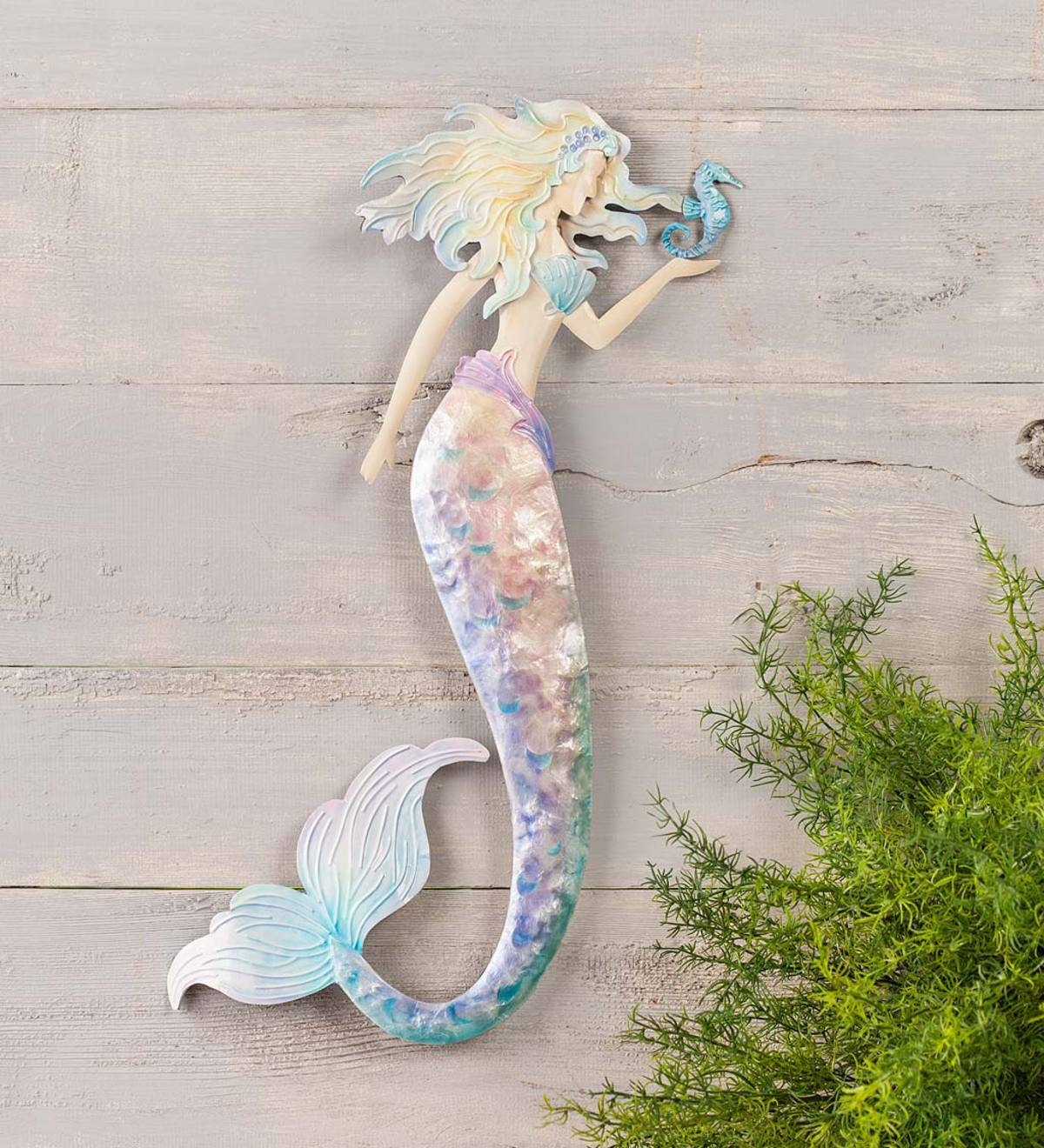 Pastel Metal Mermaid Wall Art