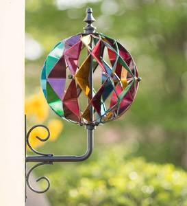 Colorful Harlequin Wall Mount Spinner