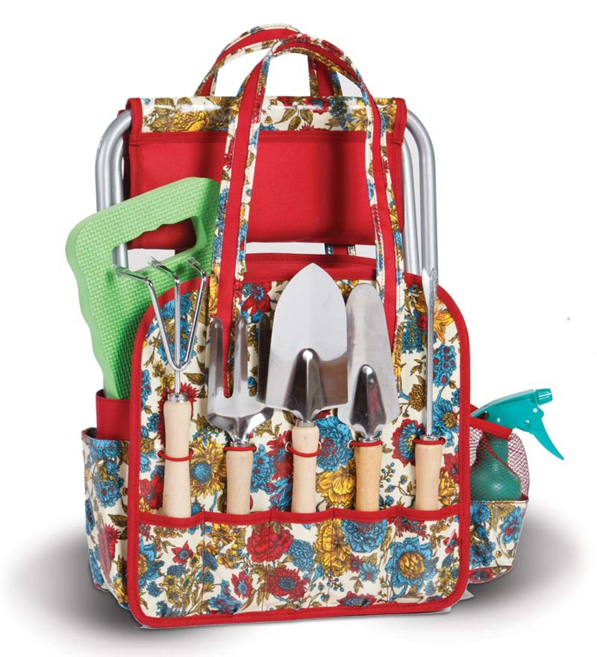 Floral Garden Tote and Tools Set