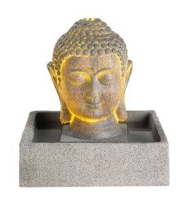 Buddha Head Fountain with LED Lights