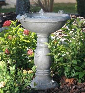 Great Country Gardens Solar Birdbath