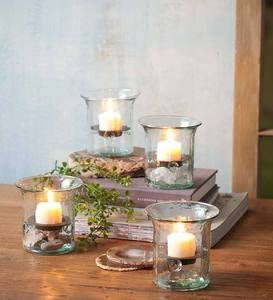 Glass and Metal Candle Holder