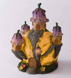 Solar Lighted Fairy Globe House