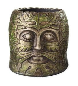 Green Man Head Garden Planter