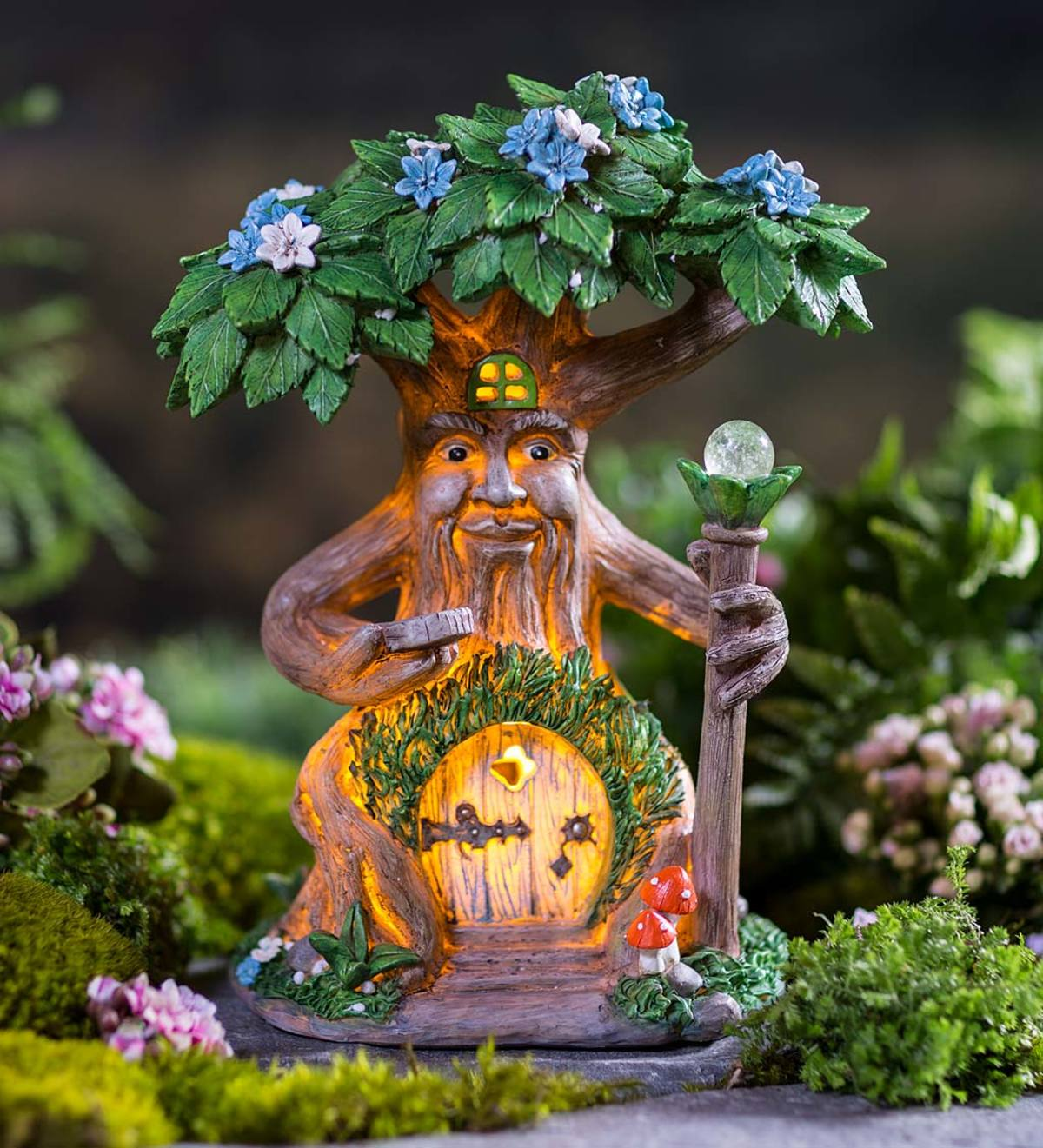 Solar Lighted Fairy House in a Tree