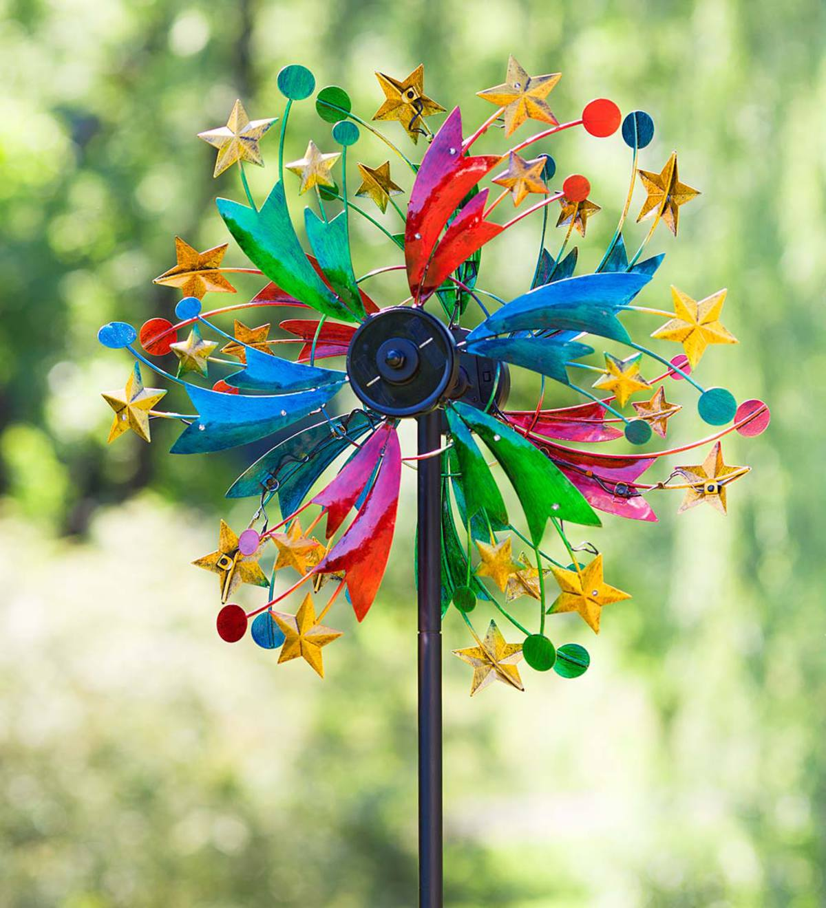Color Star Solar Wind Spinner